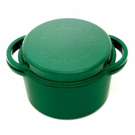 Zelený okrúhly liatinový pekáč