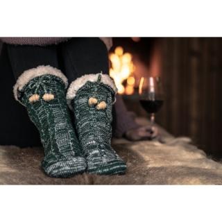 Ponožky domáce teplé s...